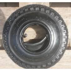 Binnen & buitenband steekwagenwiel 3.00-4 (260x85)