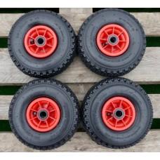 Set steekwagenwielen bolderkarwielen 3.00-4 (260x85)